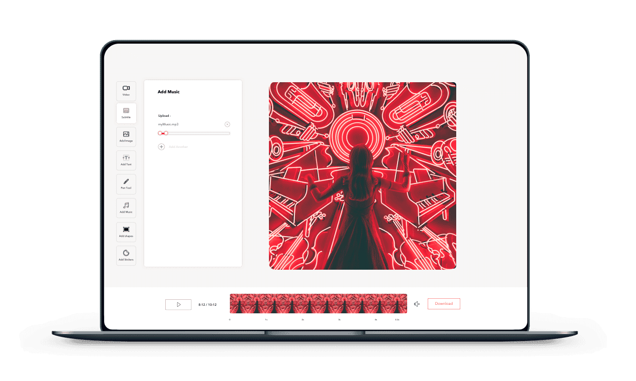 photo editor app music videos